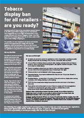 Tobacco Display Ban Advice and Information 2015
